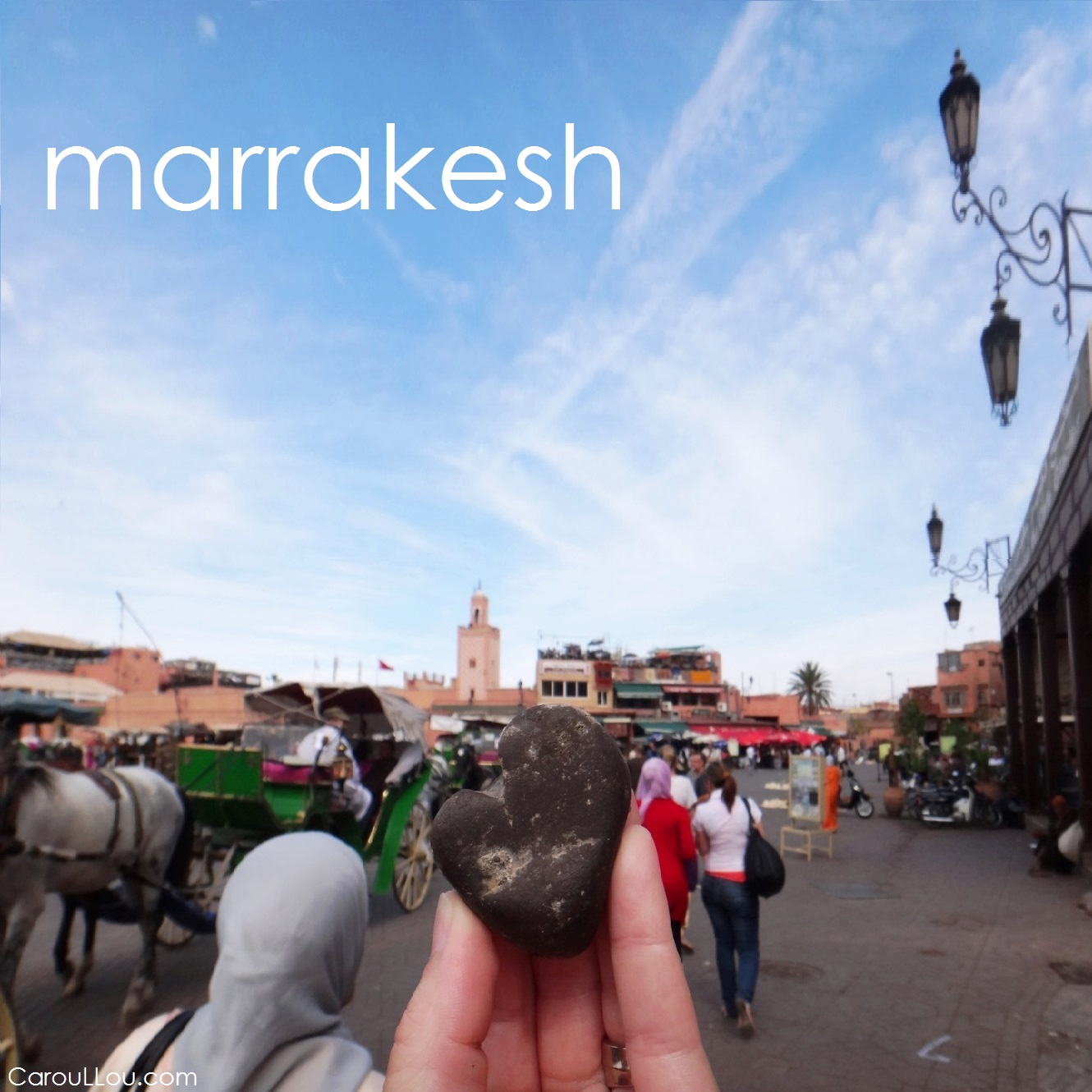 CarouLLou.com Carou LLou in Marrakesh heart +-
